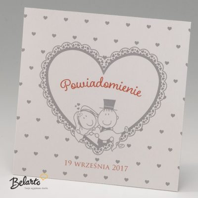 Zaproszenia Bella - Zaproszenie na Slub symbol 725539P bella 400x400