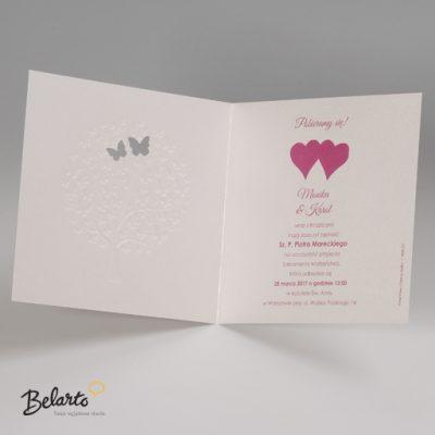 Zaproszenia Bella - Zaproszenie na Slub symbol 725907P 3 bella 400x400