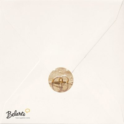 Zaproszenia Belarto - Zaproszenie na Slub symbol envelop sluitzegel belarto 400x400