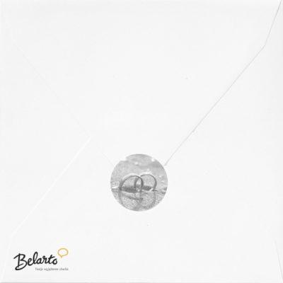 Zaproszenia Belarto - Zaproszenie na Slub symbol envelop sluitzegelwhite belarto 400x400