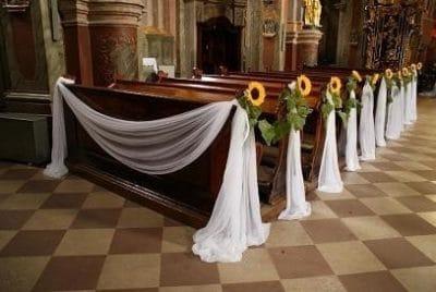 Dekoracja kościoła na ślub - galeria 467 400x268