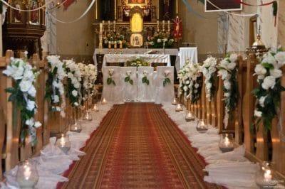 Dekoracja kościoła na ślub - galeria 469 400x266
