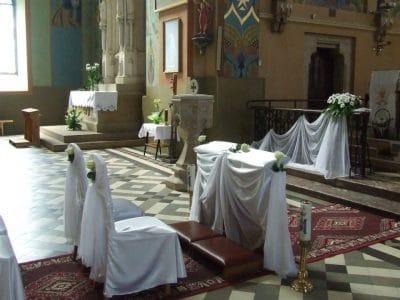 Dekoracja kościoła na ślub - galeria 475 400x300