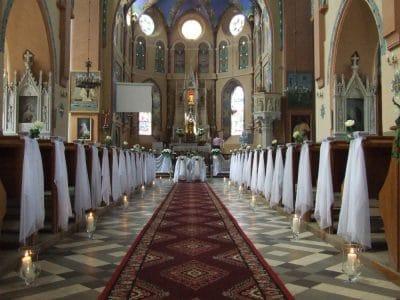 Dekoracja kościoła na ślub - galeria 477 400x300