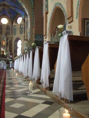 Dekoracja kościoła na ślub - galeria 478 300x400