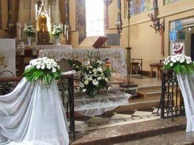 Dekoracja kościoła na ślub - galeria 479 400x300