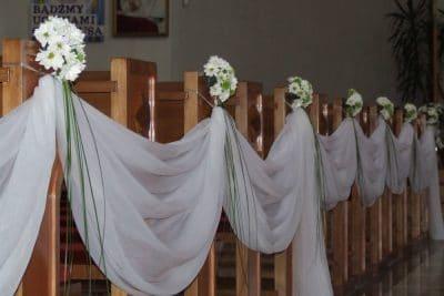 Dekoracja kościoła na ślub - galeria 480 400x267