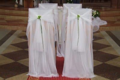 Dekoracja kościoła na ślub - galeria 481 400x267