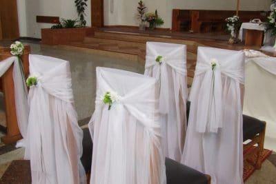Dekoracja kościoła na ślub - galeria 484 400x267