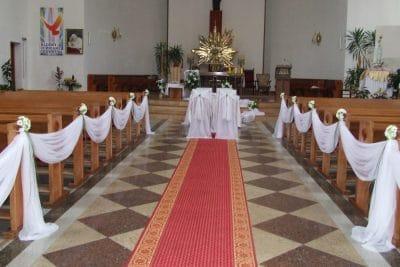 Dekoracja kościoła na ślub - galeria 485 400x267