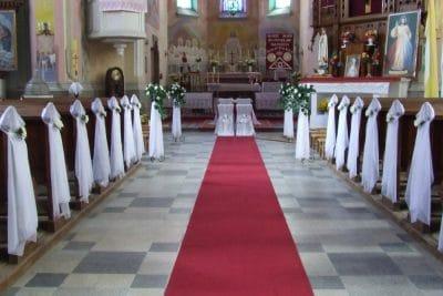 Dekoracja kościoła na ślub - galeria 486 400x267
