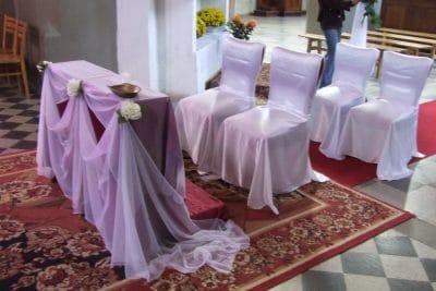 Dekoracja kościoła na ślub - galeria 487 400x267
