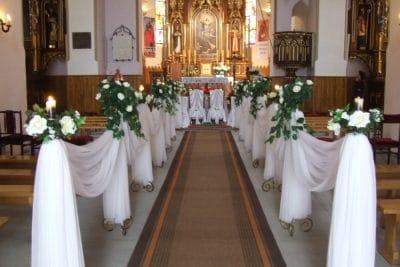 Dekoracja kościoła na ślub - galeria 489 400x267