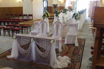 Dekoracja kościoła na ślub - galeria 490 400x267