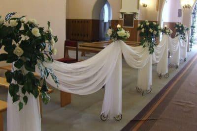 Dekoracja kościoła na ślub - galeria 491 400x267