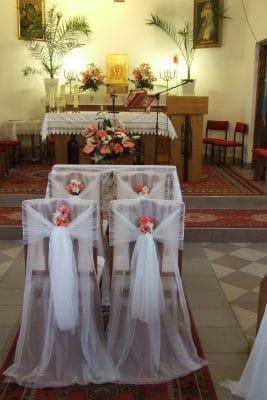 Dekoracja kościoła na ślub - galeria 493 267x400