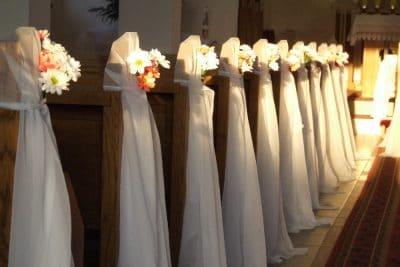 Dekoracja kościoła na ślub - galeria 495 400x267