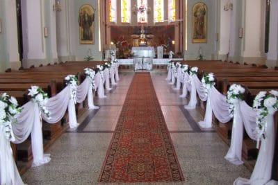 Dekoracja kościoła na ślub - galeria 496 400x267