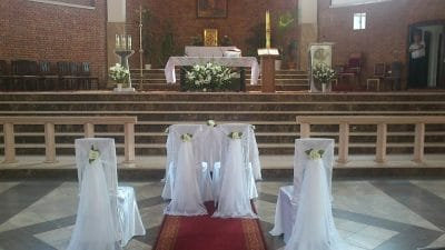 Dekoracja kościoła na ślub - galeria 497 400x225