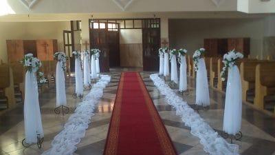Dekoracja kościoła na ślub - galeria 498 400x225