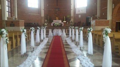 Dekoracja kościoła na ślub - galeria 499 400x225