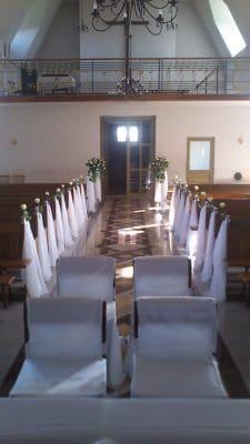 Dekoracja kościoła na ślub - galeria 501 225x400