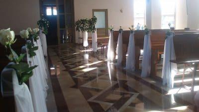 Dekoracja kościoła na ślub - galeria 502 400x225
