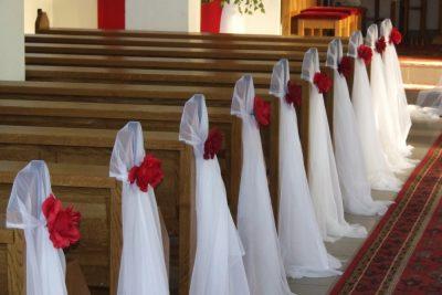Dekoracja kościoła na ślub - galeria 504 400x267